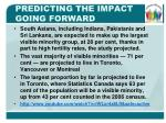 predicting the impact going forward1