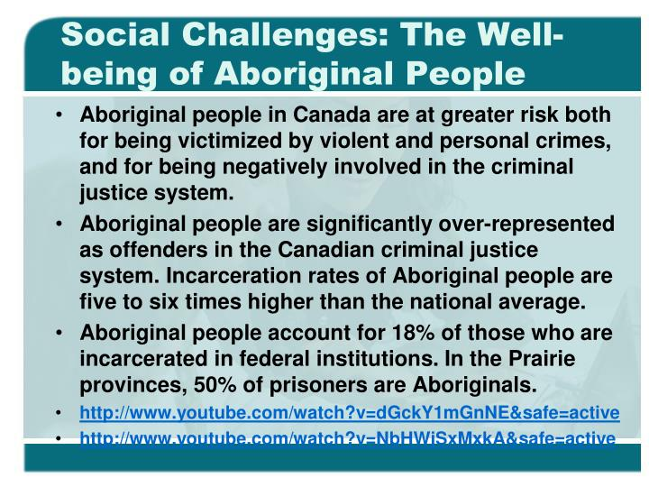 Social Challenges: The Well-being of Aboriginal People