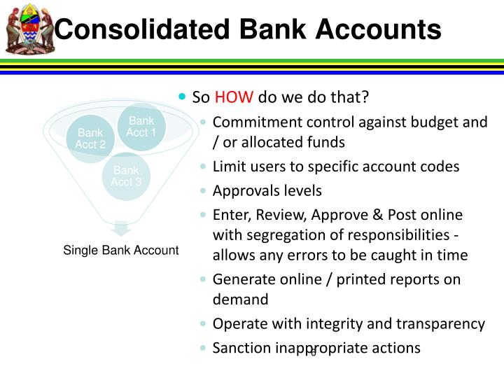 Consolidated Bank Accounts