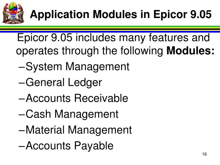 Application Modules in Epicor 9.05