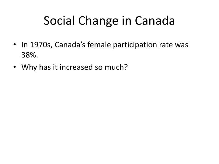 Social Change in Canada