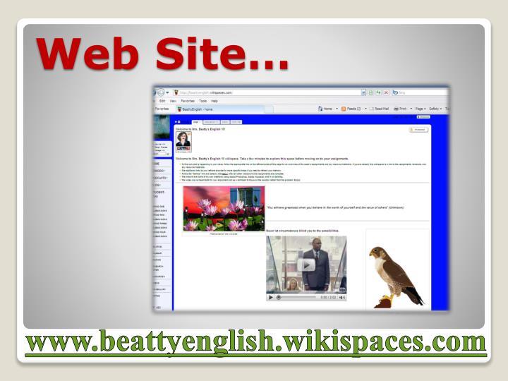 Web Site…