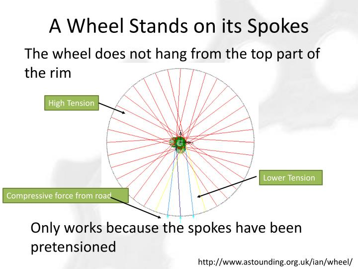 A Wheel Stands on its Spokes