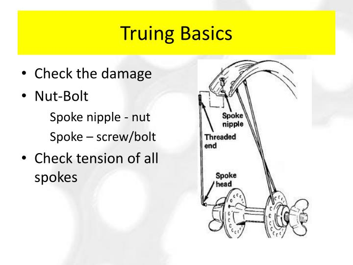 Truing Basics