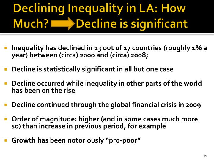 Declining Inequality in LA: How Much?