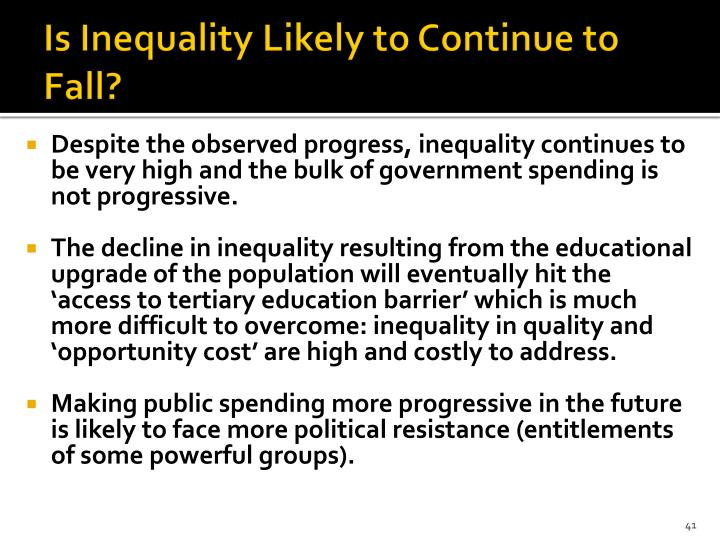 Is Inequality Likely to Continue to Fall?