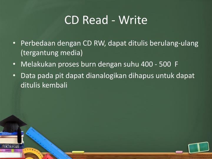 CD Read - Write