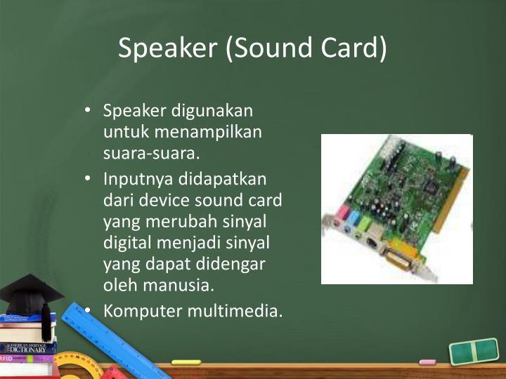 Speaker (Sound Card)
