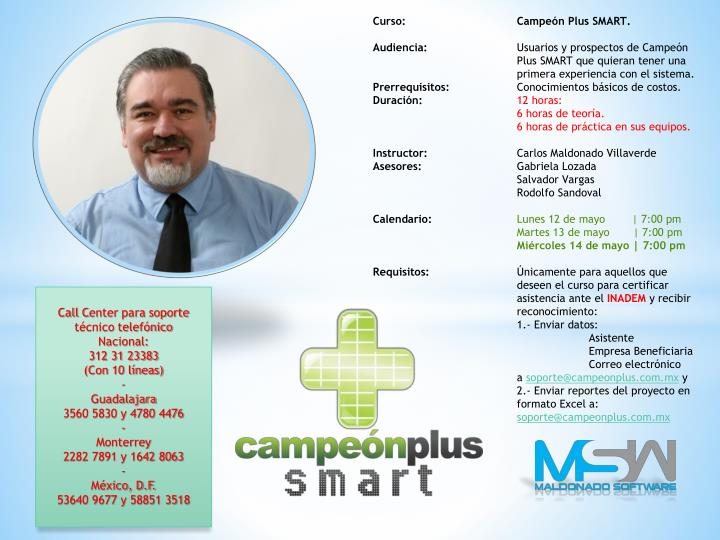 Curso: 		Campeón Plus SMART.