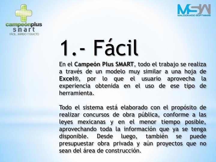 1.- Fácil