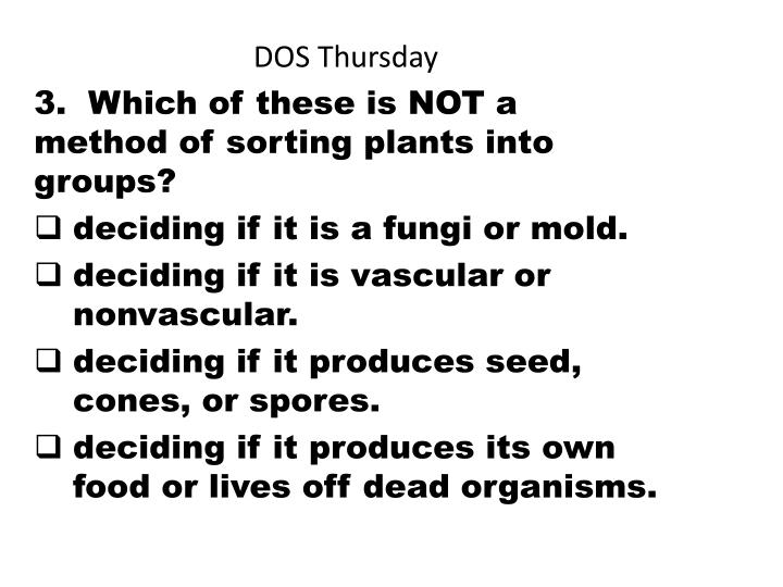 DOS Thursday