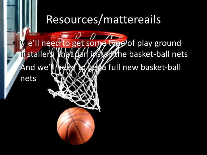 Resources mattereails