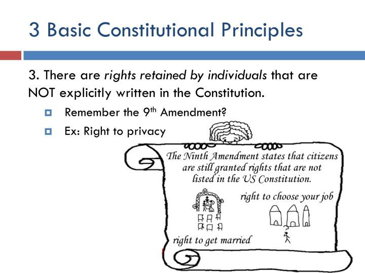 3 Basic Constitutional Principles