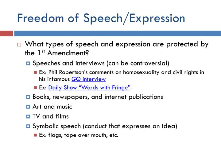Freedom of Speech/Expression