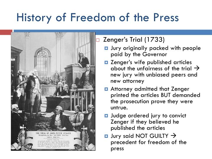 History of Freedom of the Press
