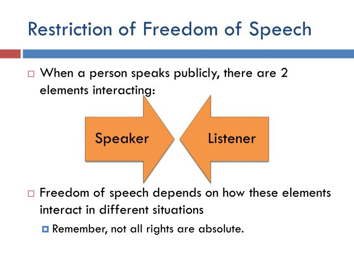 Restriction of Freedom of Speech