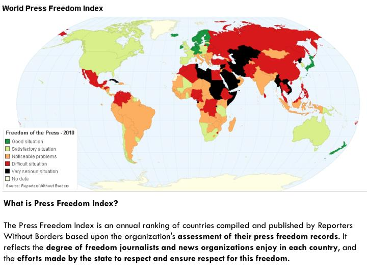 What is Press Freedom Index?