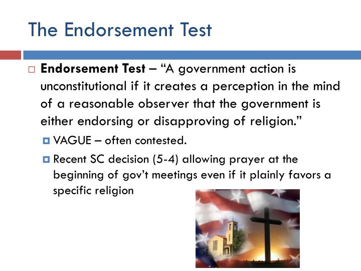 The Endorsement Test
