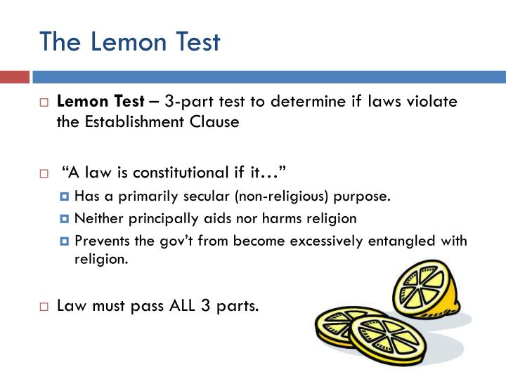 The Lemon Test