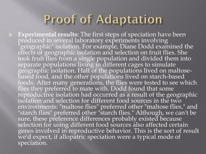 Proof of Adaptation