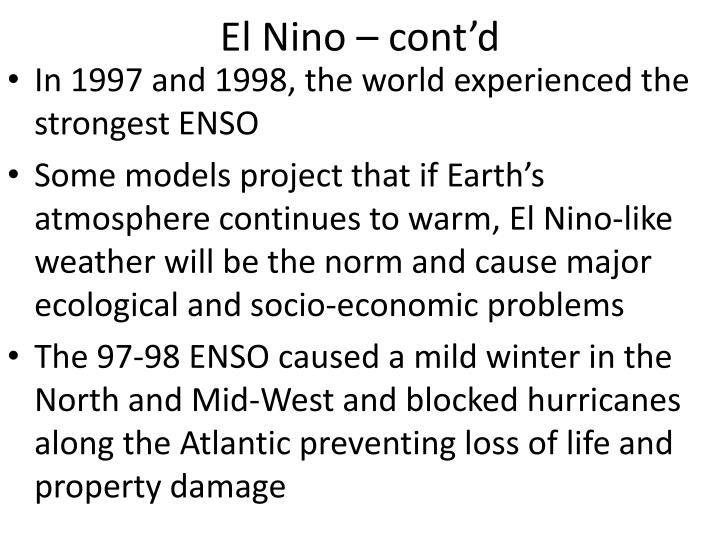 El Nino – cont'd