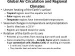 global air circulation and regional climates