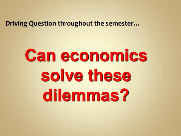Driving Question throughout the semester…