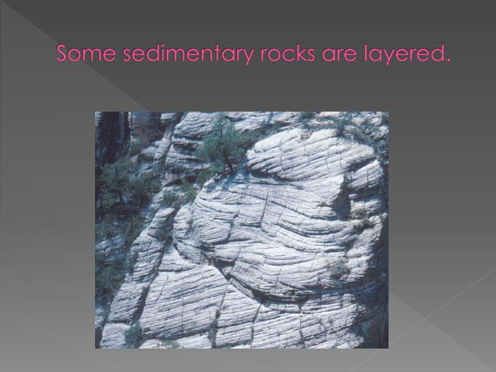 Some sedimentary rocks are layered.