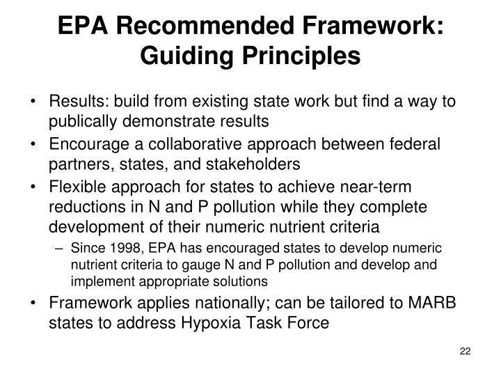 EPA Recommended Framework: