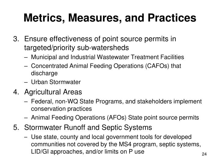 Metrics, Measures, and Practices