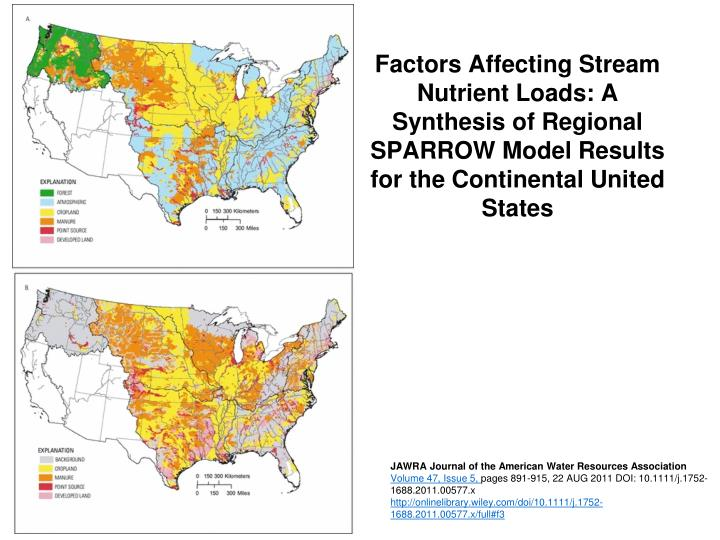 Factors Affecting Stream Nutrient Loads: A Synthesis of Regional SPARROW Model Results for the Continental United States