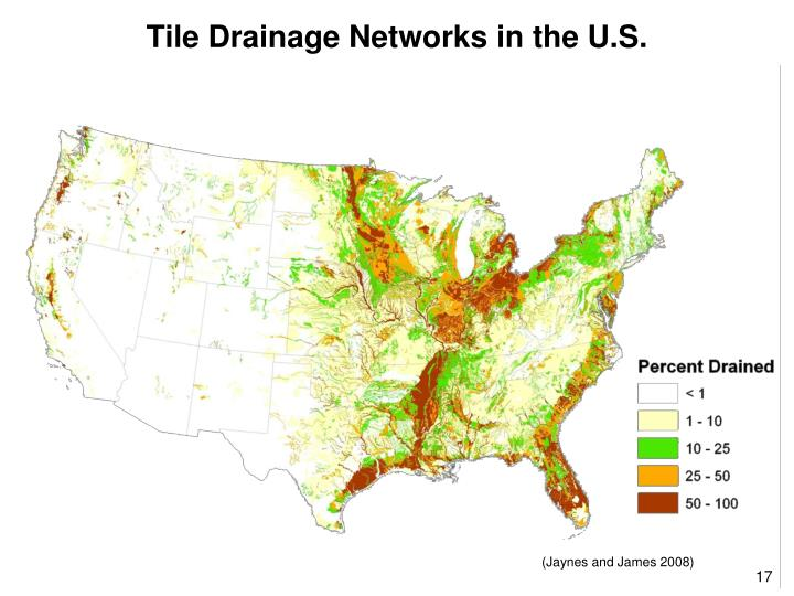 Tile Drainage Networks in the U.S