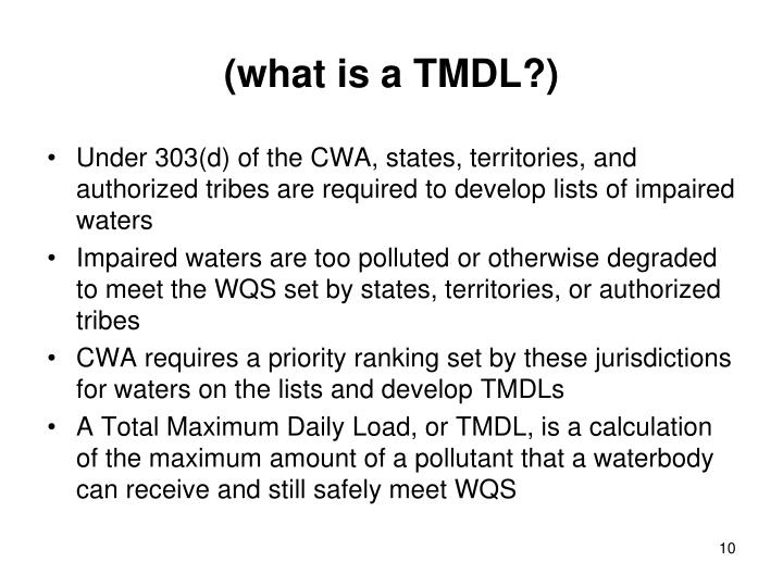 (what is a TMDL?)