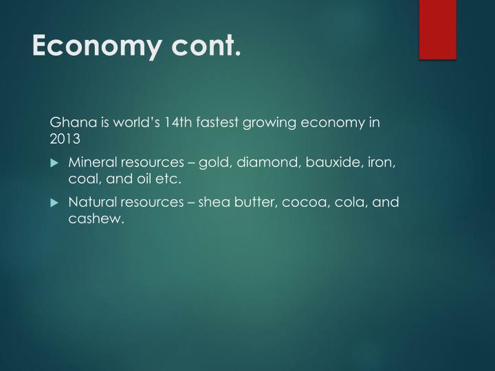 Economy cont.