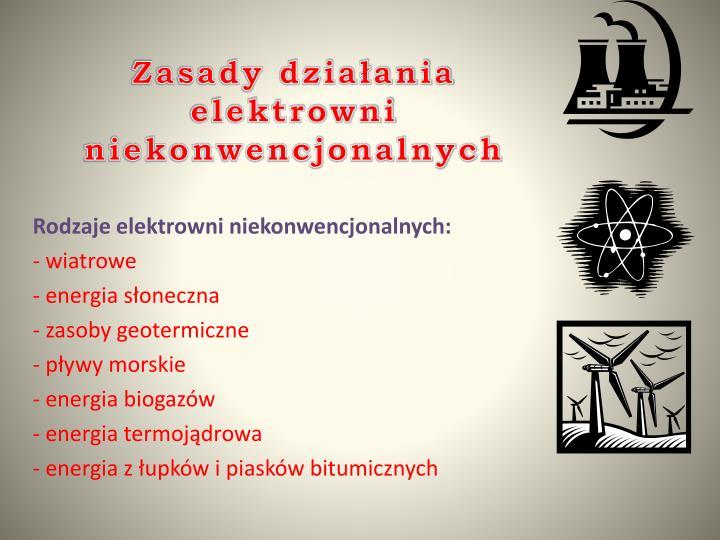 Zasady działania elektrowni niekonwencjonalnych