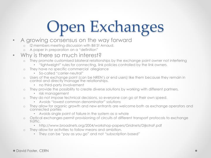 Open Exchanges
