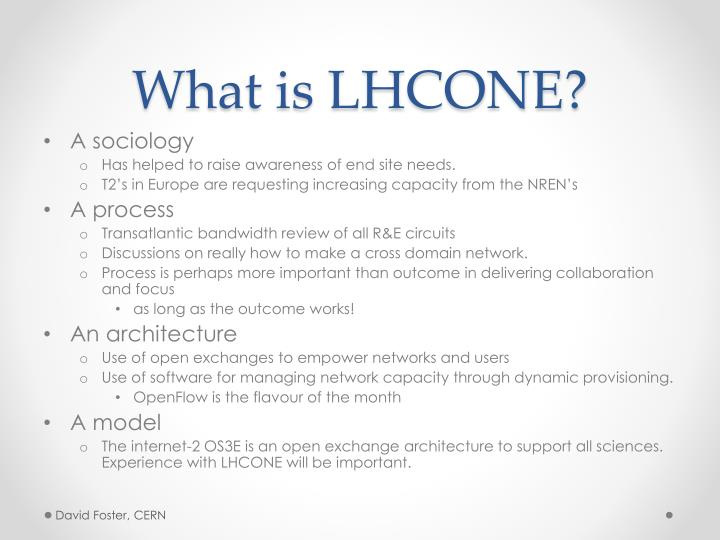 What is LHCONE?