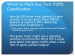 where to place and trust traffic classification