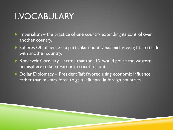 1.Vocabulary