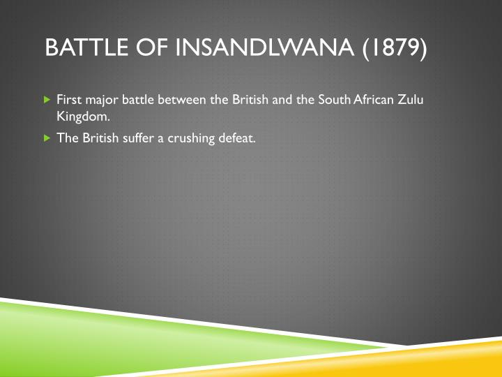 Battle of insandlwana
