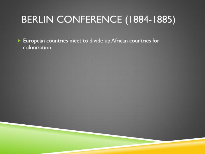 Berlin conference (1884-1885)