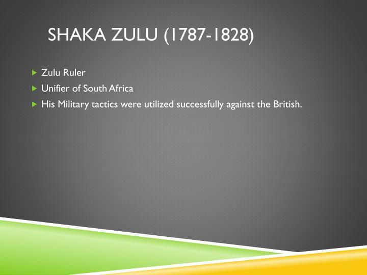 shaka zulu (1787-1828)