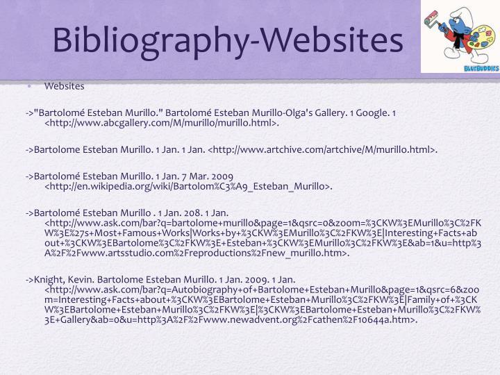 Bibliography-Websites