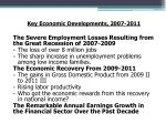 key economic developments 2007 2011