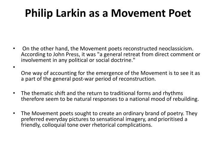 Philip Larkin's almost perfect poem