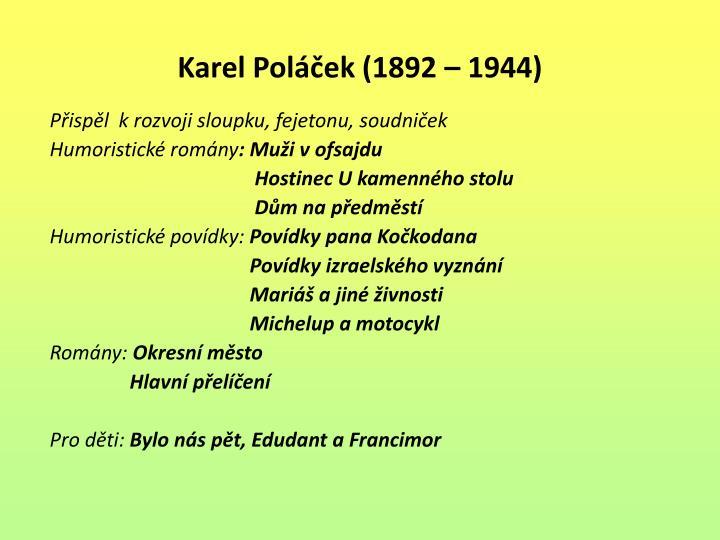 Karel Poláček (1892 –