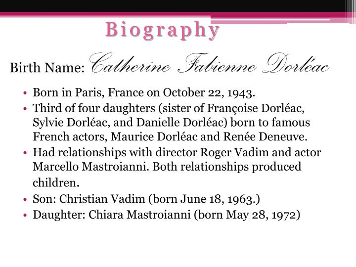 Birth name catherine fabienne dorl ac