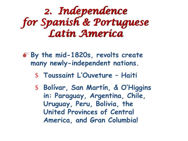 2.  Independence