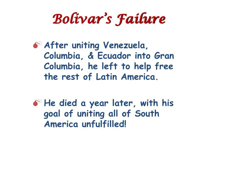 Bolivar's Failure