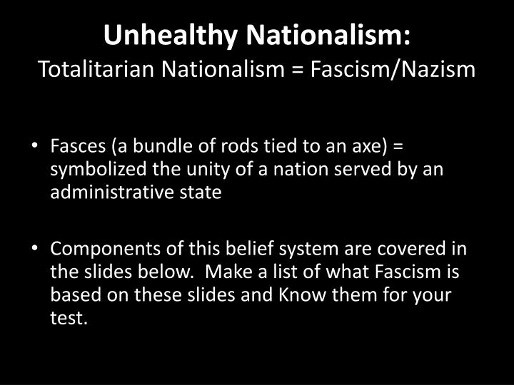 Unhealthy Nationalism: